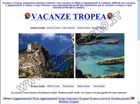 Vacanze a Tropea  - Appartamenti e Case